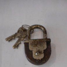 Antigüedades: CANDADO AGM 6 LEVAS CON LLAVES. Lote 96827787