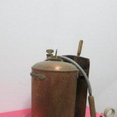 Antigüedades: FUMIGADORA REDONDA DE COBRE #. Lote 96830059