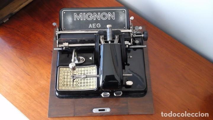 MAQUINA DE ESCRIBIR MIGNON, MODELO 4. (Antigüedades - Técnicas - Máquinas de Escribir Antiguas - Mignon)