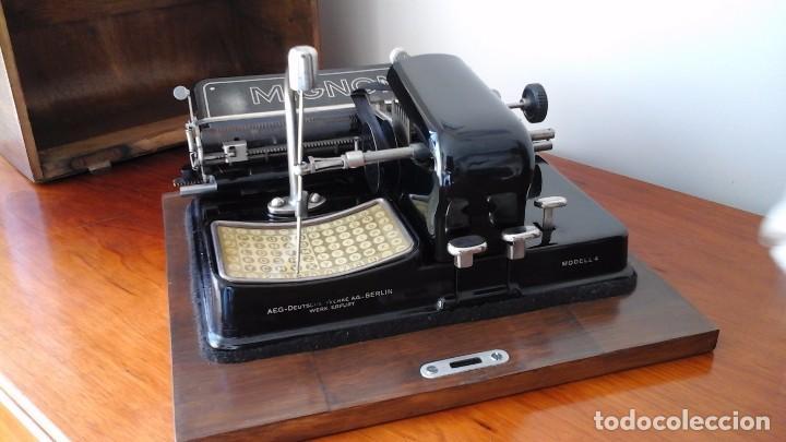 Antigüedades: Maquina de escribir Mignon, modelo 4. - Foto 3 - 185957721