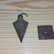 Antigüedades: ANTIGUA PLOMADA DE HIERRO.. Lote 96880619