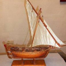 Antigüedades: ANTIGUO BARCO VELERO EN MADERA. Lote 97002751