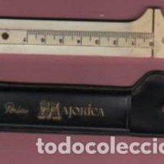 Antigüedades: PIE DE REY - PUBLICIDAD DE PERLAS MAJORICA CON SU FUNDA ORIGEN. Lote 97041395