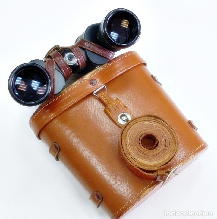 PRISMÁTICOS BINOCULARES GEMELOS STELLAR 7X35 MADE IN KOREA CON FUNDA DE PIEL. MUY BIEN CONSERVADOS. (Antigüedades - Técnicas - Instrumentos Ópticos - Binoculares Antiguos)