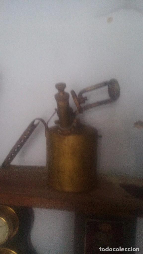 LAMPARILLA DE BRONCE ANTIGUA (Antigüedades - Técnicas - Herramientas Antiguas - Otras profesiones)