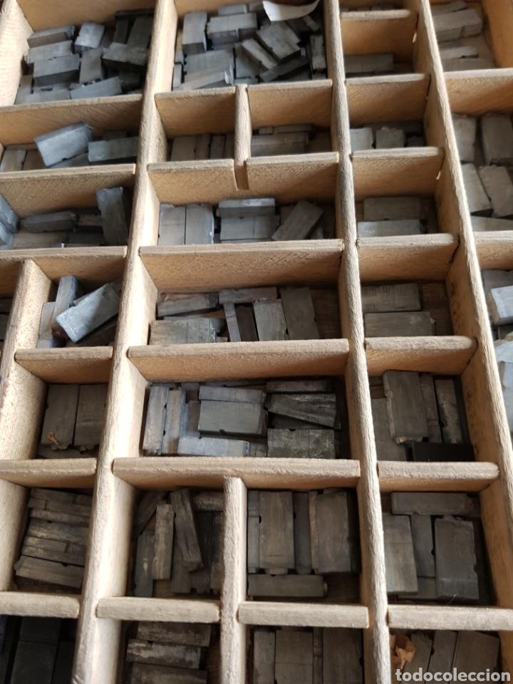 Antigüedades: GRAN LOTE DE TIPOGRAFIA DE IMPRENTA, +de 500 piezas - Foto 3 - 97367284