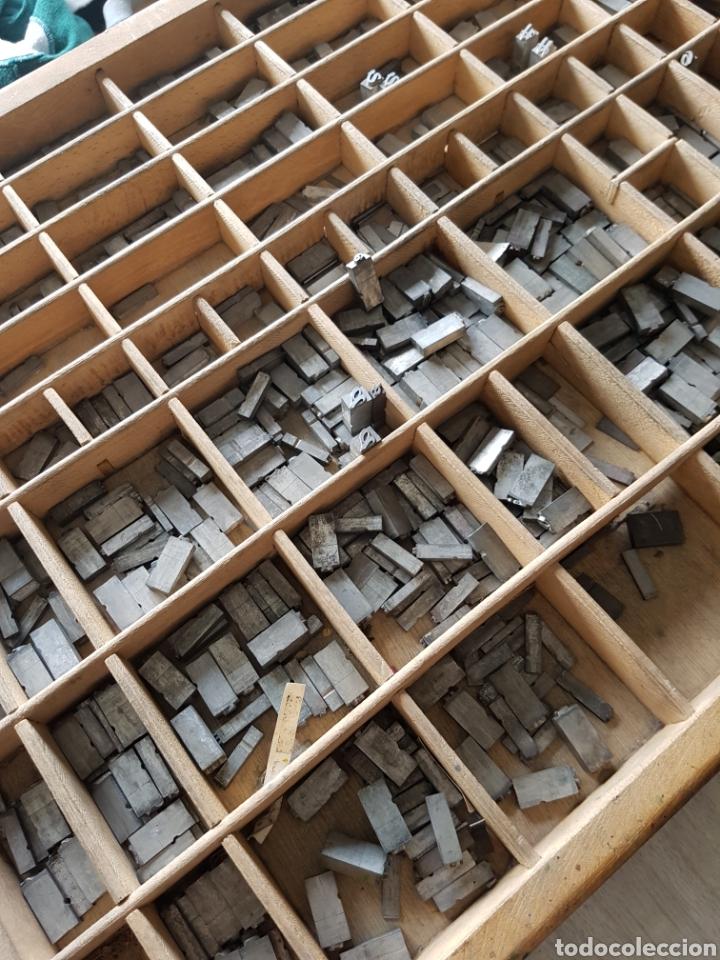 Antigüedades: GRAN LOTE DE TIPOGRAFIA DE IMPRENTA, +de 500 piezas - Foto 4 - 97367284