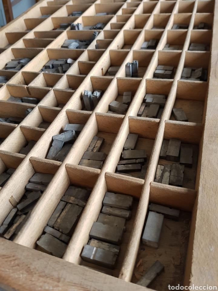 Antigüedades: GRAN LOTE DE TIPOGRAFIA DE IMPRENTA, +de 500 piezas - Foto 5 - 97367284