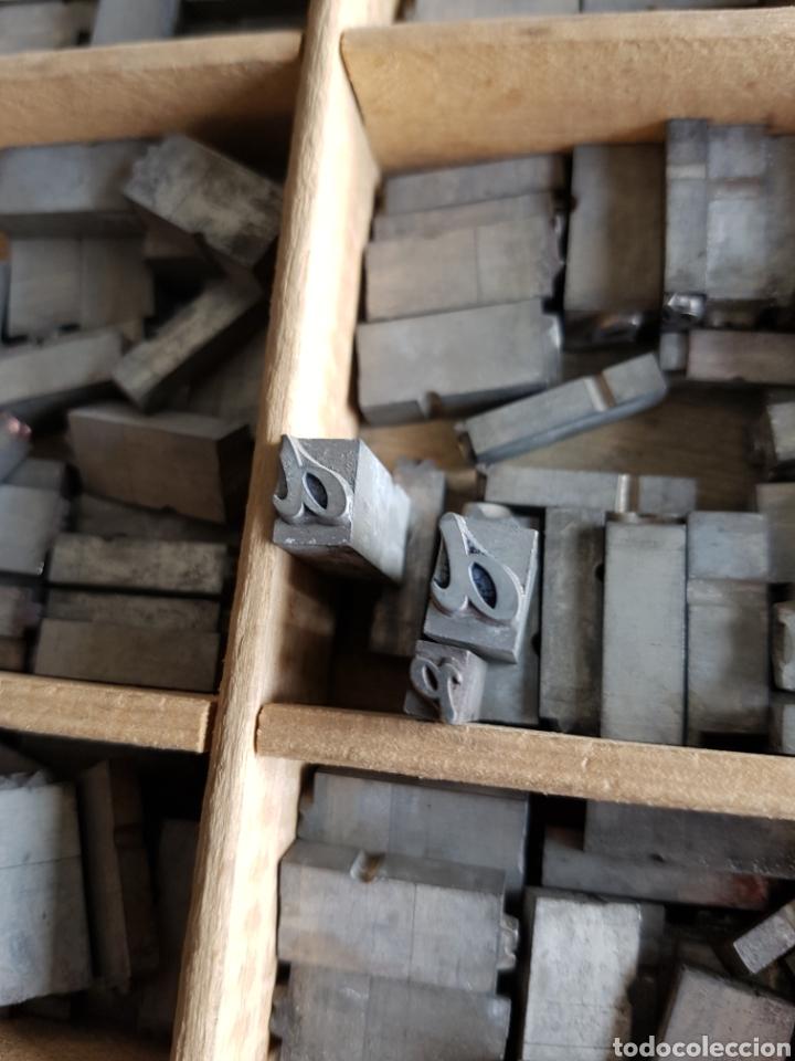 Antigüedades: GRAN LOTE DE TIPOGRAFIA DE IMPRENTA, +de 500 piezas - Foto 6 - 97367284