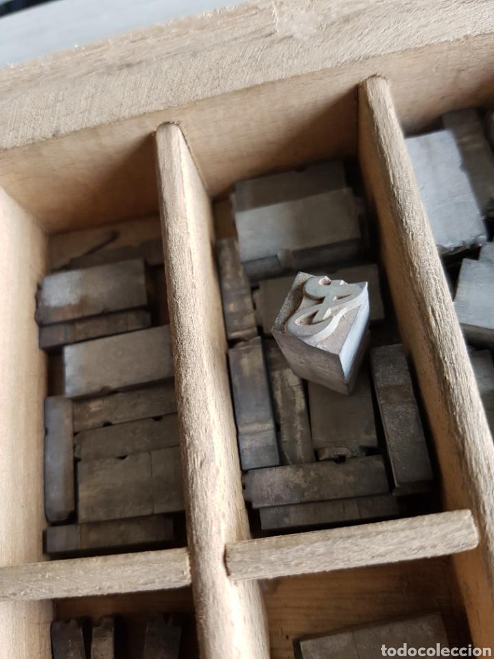 Antigüedades: GRAN LOTE DE TIPOGRAFIA DE IMPRENTA, +de 500 piezas - Foto 7 - 97367284