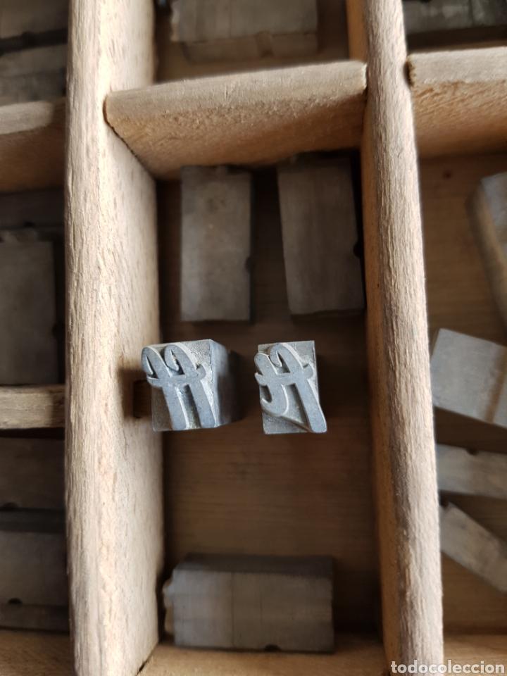 Antigüedades: GRAN LOTE DE TIPOGRAFIA DE IMPRENTA, +de 500 piezas - Foto 10 - 97367284