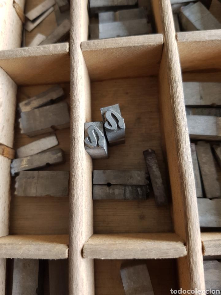 Antigüedades: GRAN LOTE DE TIPOGRAFIA DE IMPRENTA, +de 500 piezas - Foto 13 - 97367284