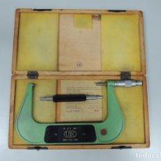 Antigüedades: MICRÓMETRO 150-175 MM UIK HERRAMIENTA PROFESIONAL DE PRECISIÓN CAJA DE MADERA. Lote 97465535