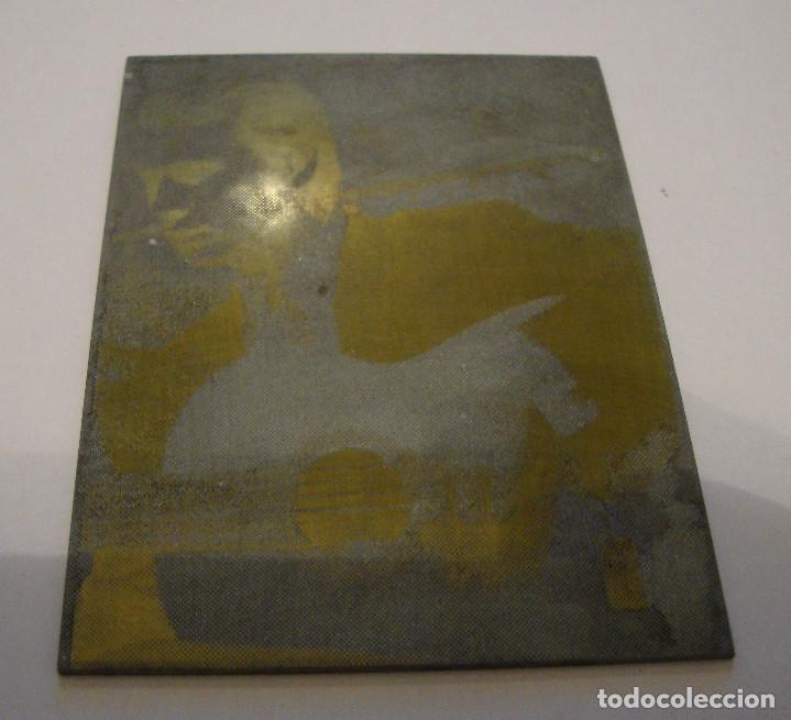 (TC-107) MUY DIFICIL PLANCHA CLICHE IMPRENTA DE PACO DE LUCIA (Antigüedades - Técnicas - Herramientas Profesionales - Imprenta)