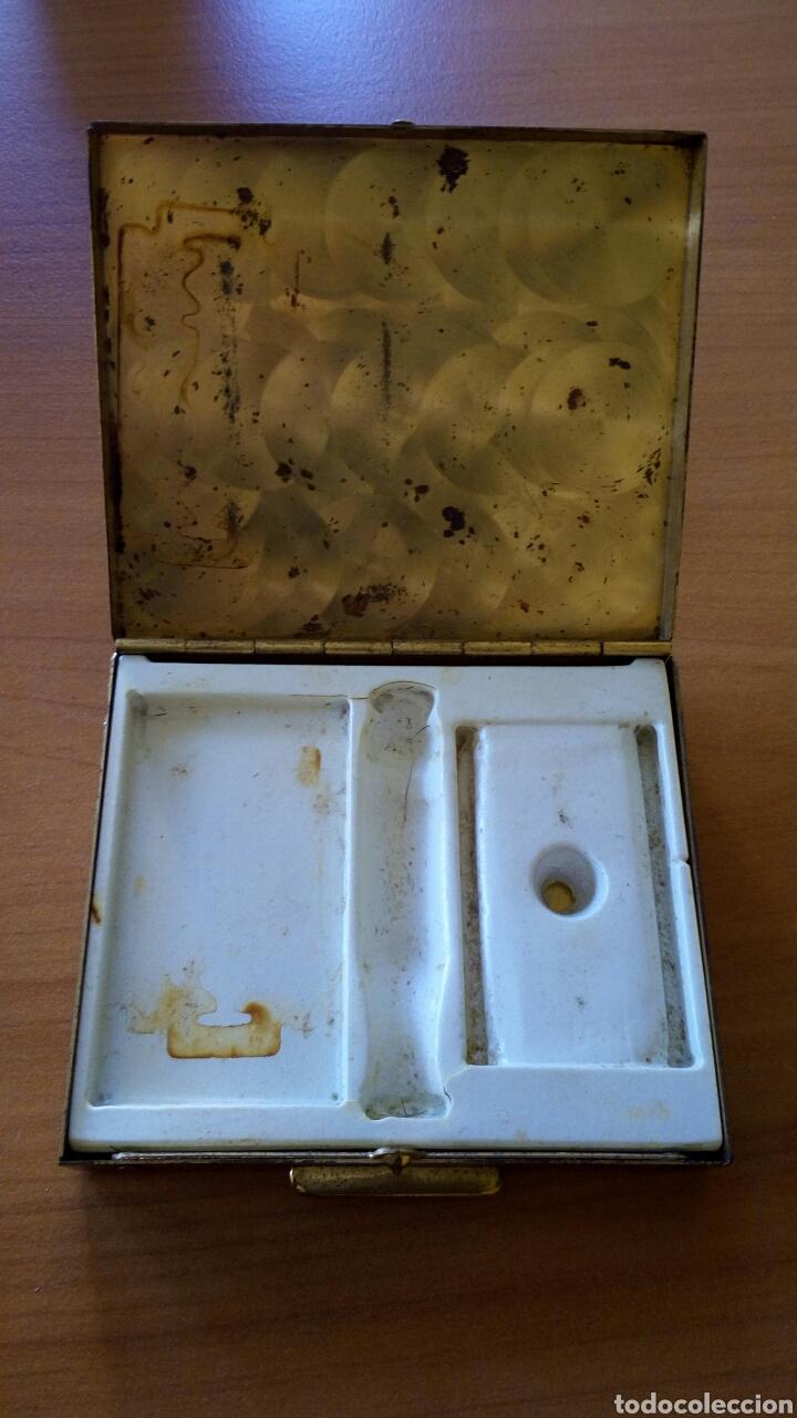 Antigüedades: MAQUINILLA AFEITAR CON ESTUCHE GILLETTE ESTUCHE HOJAS DE AFEITAR - Foto 7 - 97521147