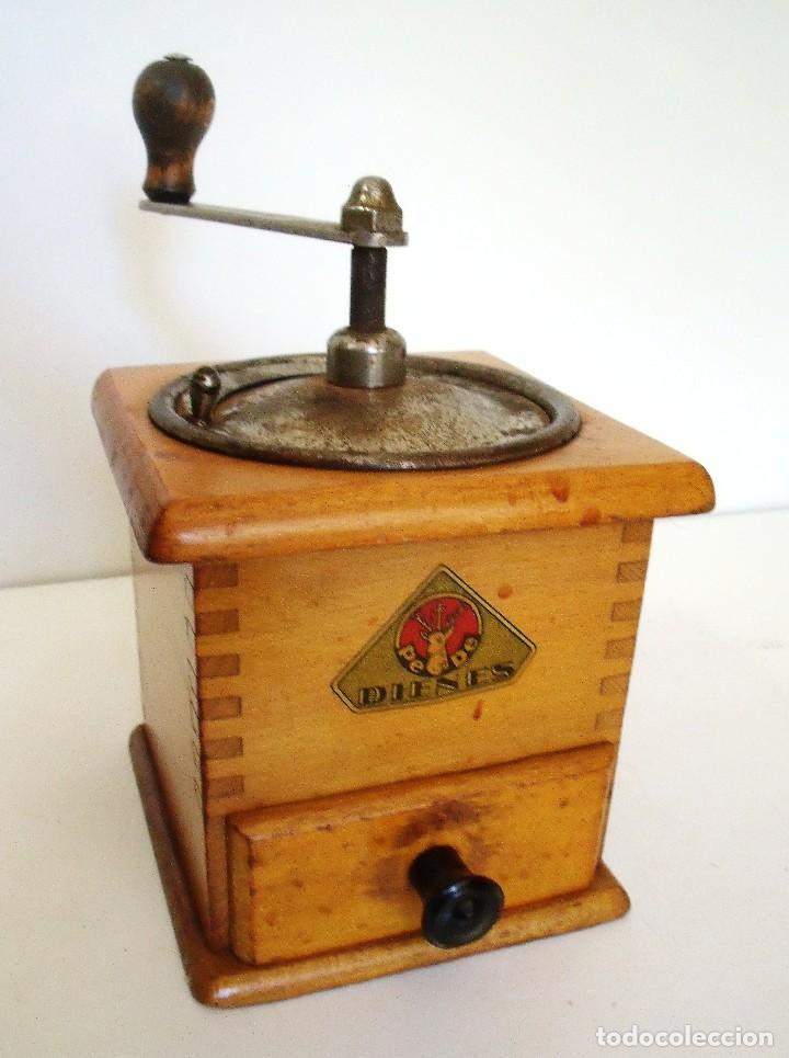 Antigüedades: MOLINILLO DE CAFÉ MARCA DIENES. MODELO 435. ALEMANIA. CA 1950 - Foto 3 - 97628151