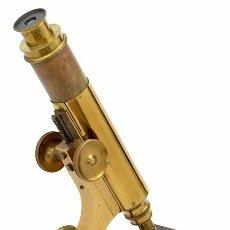 Antigüedades: MICROSCOPIO ANTIGUO AMERICANO J. ZENTMAYER (1880) EN SU CAJA ORIGINAL. Lote 97637583