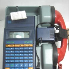 Antigüedades: HIPER RARO MODEM PARA TELEFONO- INFOS SPA MOD:DRACOS- TRANSMISION DATOS LINEA TELEFONICA - ITALY 80S. Lote 97802419