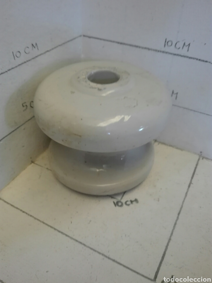 Antigüedades: Dos jicaras de luz aislantes de porcelana - Foto 6 - 97842604