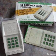 Antigüedades: TERMINAL DE BOLSILLO POR TELEFONO BANCO SANTANDER. AÑOS 80. Lote 97995383