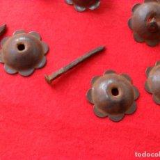 Antigüedades: LOTE CLAVOS ANTIGUOS HIERRO,BONITOS,LIMPIOS Y LISTOS PARA PONER. Lote 98009467