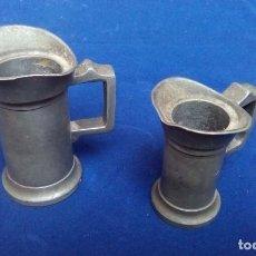 Antigüedades: ANTIGUOS MEDIDORES DE CENTILITROS. Lote 98071151