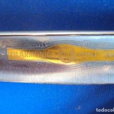 Antigüedades: (NA-170904) PRECIOSA NAVAJA DE AFEITAR FILARMONICA DOBLE TEMPLE 14 JOSE MONSERRAT POU. Lote 98116763