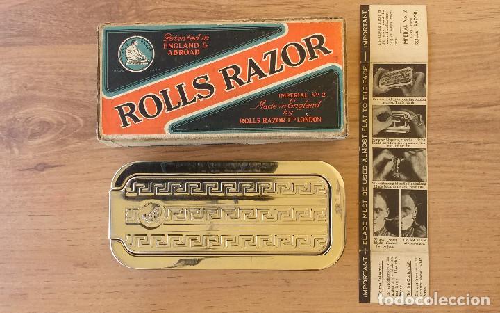 MAQUINILLA DE AFEITAR Y AFILADOR - ROLLS RAZOR 1927 COMPLETA Y EN EXCELENTE ESTADO (Antigüedades - Técnicas - Barbería - Varios Barbería Antiguas)