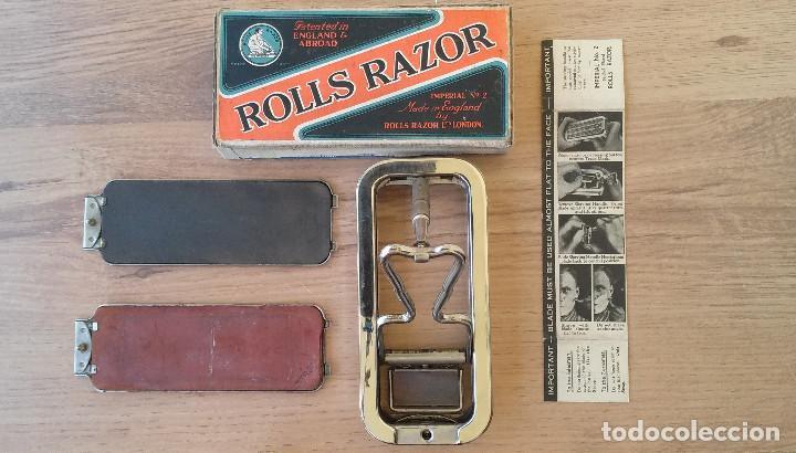 Antigüedades: Maquinilla de afeitar y afilador - ROLLS RAZOR 1927 Completa y en excelente estado - Foto 3 - 98125135