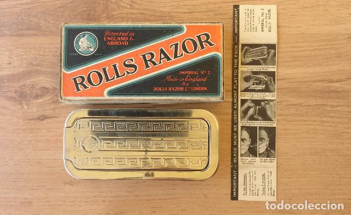 Antigüedades: Maquinilla de afeitar y afilador - ROLLS RAZOR 1927 Completa y en excelente estado - Foto 7 - 98125135