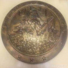 Antigüedades: UNION NAVAL DE LEVANTE. PLACA DE BRONCE.. Lote 98146615