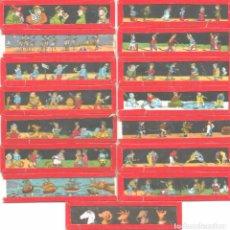 Antigüedades: 8---SERIE 15 PLACAS EN VIDRIO CON FOTOGRAMAS PARA VER CINE EN LINTERNA MÁGICA,FABRICADAS EN ALEMANIA. Lote 98158611