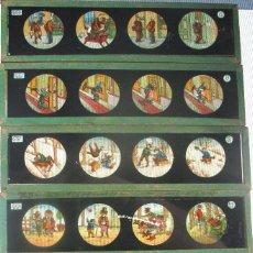 Antigüedades: 55--SERIE 12 PLACAS EN VIDRIO CON FOTOGRAMAS PARA VER CINE EN LINTERNA MÁGICA,FABRICADAS EN ALEMANIA. Lote 98158871