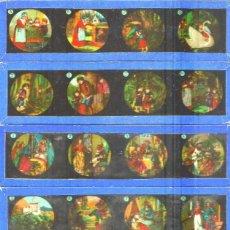 Antigüedades: 320-SERIE 12 PLACAS EN VIDRIO CON FOTOGRAMAS PARA VER CINE EN LINTERNA MÁGICA,FABRICADAS EN ALEMANIA. Lote 98220267