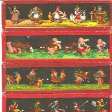 Antigüedades: 155-SERIE 6 PLACAS EN VIDRIO CON FOTOGRAMAS PARA VER CINE EN LINTERNA MÁGICA,FABRICADAS EN ALEMANIA. Lote 98223907