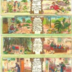 Antigüedades: 1-SERIE 4 PLACAS EN VIDRIO CON FOTOGRAMAS PARA VER CINE EN LINTERNA MÁGICA,FABRICADAS EN ALEMANIA. Lote 98230667