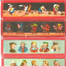 Antigüedades: 160-SERIE 6 PLACAS EN VIDRIO CON FOTOGRAMAS PARA VER CINE EN LINTERNA MÁGICA,FABRICADAS EN ALEMANIA. Lote 98231431