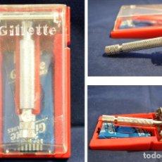 Antigüedades: ANTIGUA MAQUINILLA GILLETTE SUPER SPEED 40'S STYLE BRITISH RAZOR . Lote 98386019