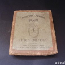 Antigüedades: DOS SERIES DE LAMINAS TOL-SIM PARIS PARA LINTERNA MAGICA 60 PIEZAS. Lote 98396095