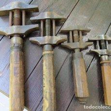 Antigüedades: LLAVES DE APRIETE. COLECCIÓN DE 4 UNIDADES. DENOMINADAS DE PERRO. AÑOS 30. IMPRESIONANTES. WRENCHES:. Lote 98403463
