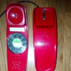 Teléfonos: TELEFONO ROJO GONDOLA AÑOS 70 BUEN ESTADO TELEFONICA. Lote 98439608