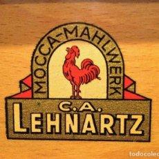Antigüedades: MOLINO MOLINILLO DE CAFE DE LA FIRMA ALEMANA C.A.L. CARL AUGUST LEHNARTZ MODELO MOCCA Nº 99 . Lote 98598915