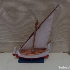 Antigüedades: BARCO DE VELA DE MADERA. Lote 98751911