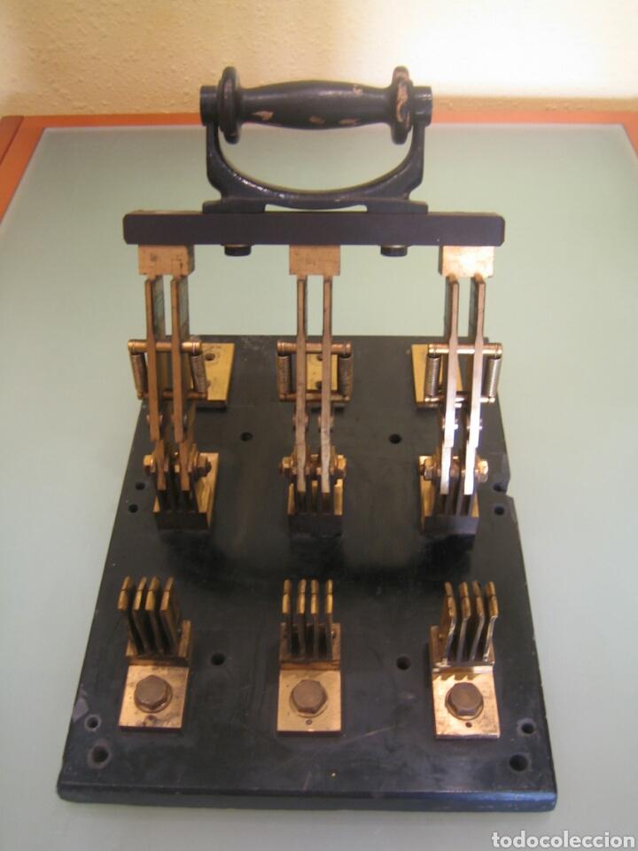 Antigüedades: ANTIGUO INTERRUPTOR DE PALANCA GIGANTE - Foto 4 - 98800724