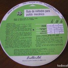 Antigüedades: REGLA DE CALCULO CIRCULAR GUIA DE METODOS PARA PULIDO MECANICO Y ELECTROLITICO - SLIDE CHART RULE RE. Lote 98811047