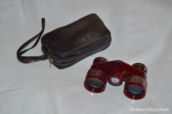 ANTIGUOS BINOCULARES PORTÁTILES - CARTON JE10 - DE 3 AUMENTOS - 3X - GRAN CALIDAD - MIRA LAS FOTOS (Antigüedades - Técnicas - Instrumentos Ópticos - Binoculares Antiguos)
