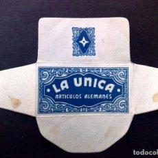 Antigüedades: HOJA DE AFEITAR ANTIGUA-LA UNICA-ARTICULOS ALEMANES-VINTAGE. Lote 81730556