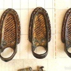 Antigüedades: LOTE DE 3 TIRADORES ANTIGUOS. Lote 98867759
