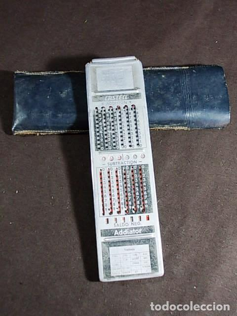 ANTIGUA REGLA DE CALCULO FABER CASTELL CON CALCULADORA ADDIATOR EN REVERSO (Antigüedades - Técnicas - Aparatos de Cálculo - Reglas de Cálculo Antiguas)