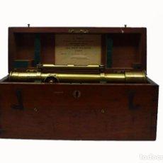 Antigüedades: ANTIGUO TEODOLITO NIVEL TOPOGRÁFICO DE BRONCE EN CAJA DE CAOBA ORIGINAL- INGLATERRA S.XIX. Lote 96541215